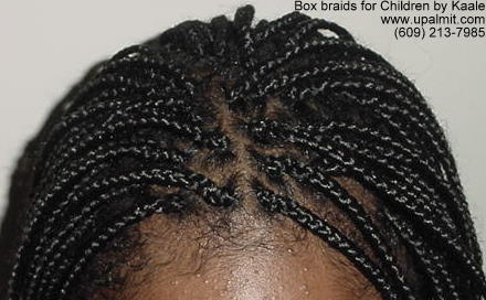 Box braids for children in NJ.