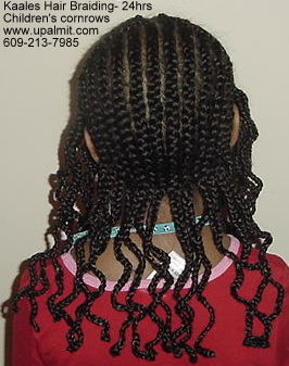 Cornrows hair for children by Kaale.