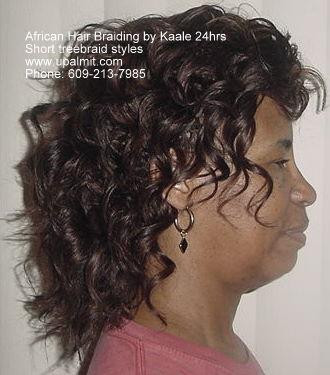 Short treebraids styles by Kaale NJ, PA, NY- side view.