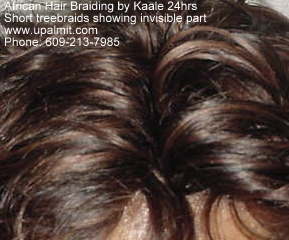Short treebraids styles, view invisible part only available by Kaale (609) 606-2893.