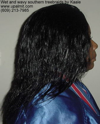 Wet and wavy treebraids, right view.