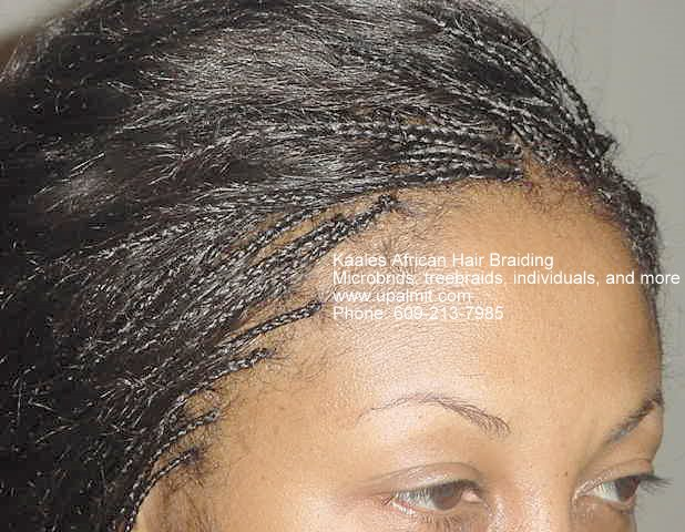 Treebraids individuals, front view Kaales African hair braiding (609) 606-2893.