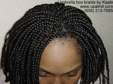 Umbrella box braids by Kaale, NJ