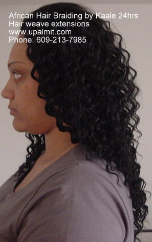 Hair weaves hair extensions- beehive cornrows used for a natural closer look.