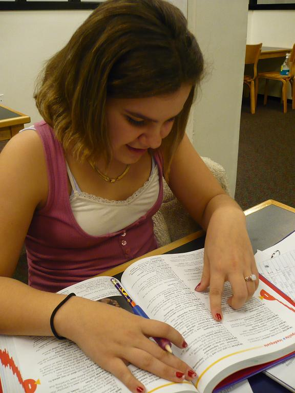 Student using a Dictionary