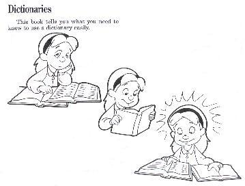 Sample page from <i>HOW TO USE A DICTIONARY PICTURE BOOK</I>