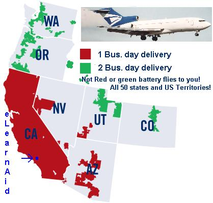 Fast Prius 12 volt battery arrives in 1 to 2 day to western US!