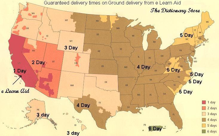 ground delivery times from e Learn Aid
