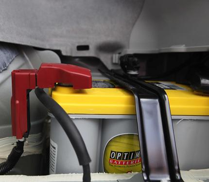 An Optima battery in a 2010 Prius!