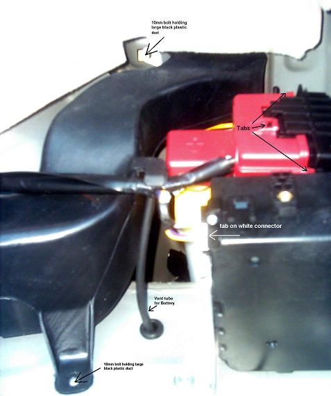 12 Volt Battery Compartment In 2004 To 2009 Prius