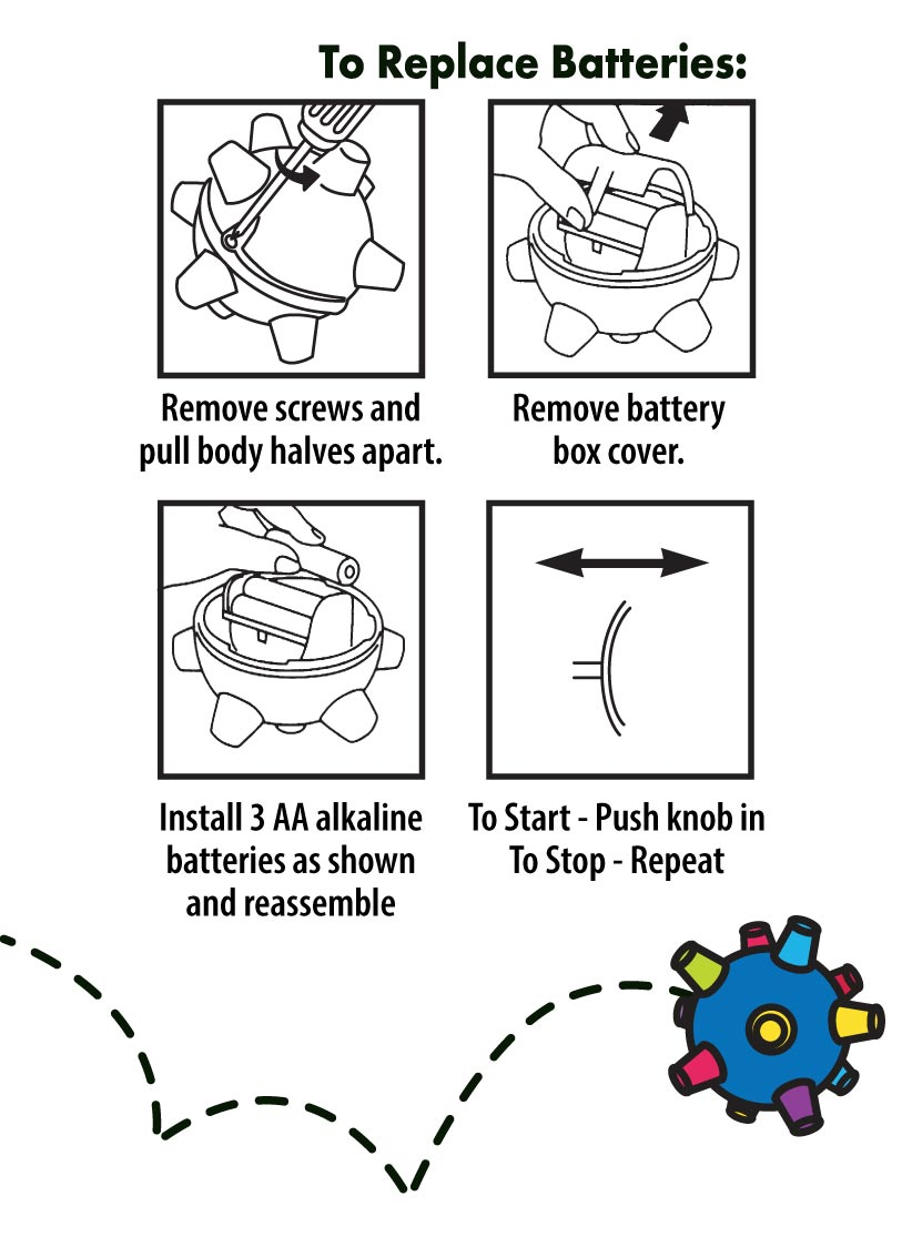 BumbleBall Replace Batteries