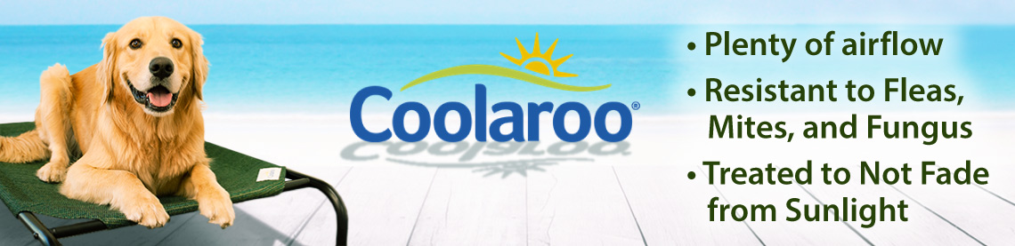 Coolaroo Plenty of airflow; resistant to fleas, mites, and fungus; Treated to not fade from sunlight