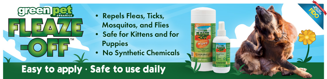 Fleaze-Off Repels Fleas, Ticks, Mosquitos, and Flies; Safe for Kittens and for Puppies; No Synthetic Chemicals; Easy to Apply, Safe to Use Daily