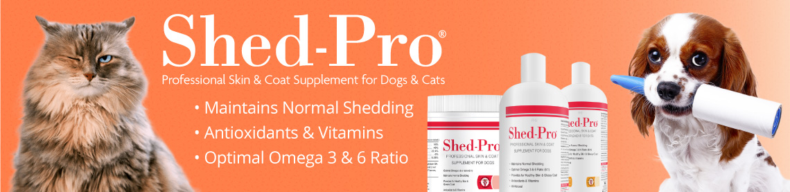Shed-Pro Professional Skin and Coat Supplement for Dogs and Cats; Maintains Normal Shedding, Antioxidants and Vitamins, optimal Omega 3 and 6 ratio