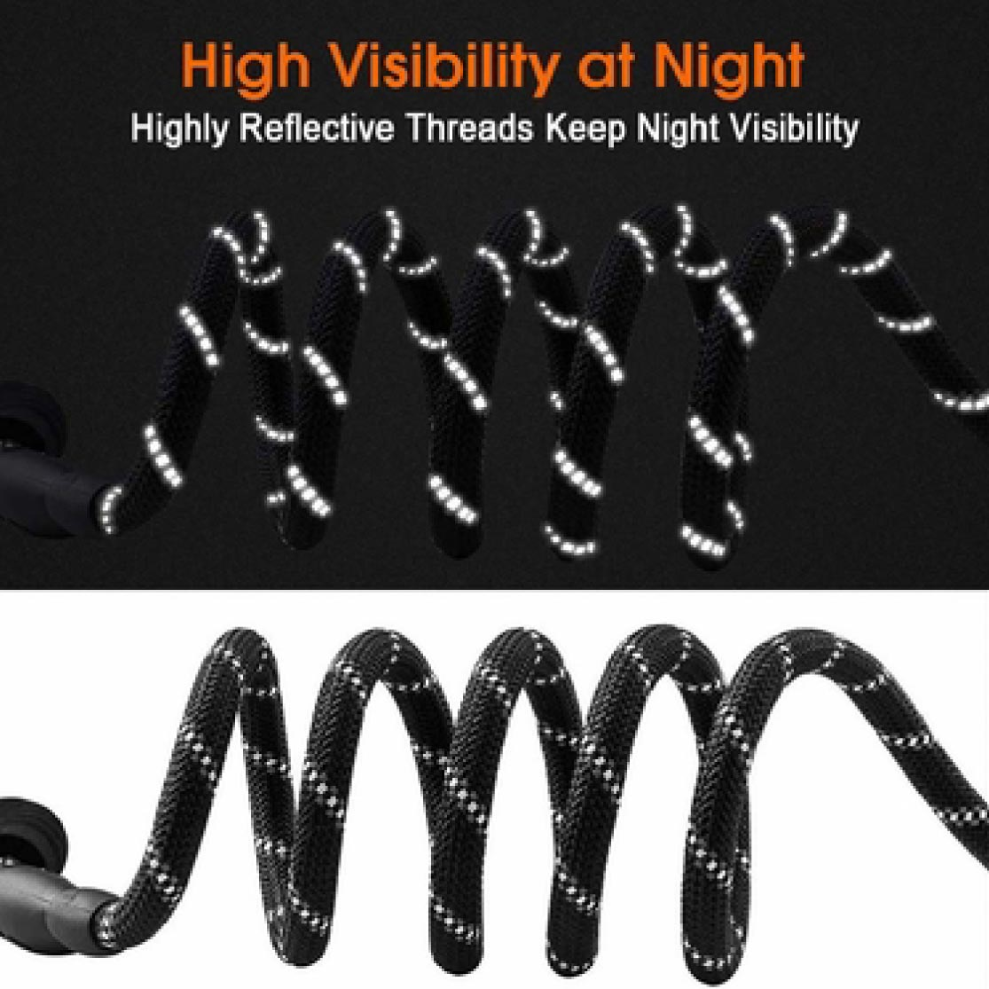 High Visibility at Night; Highly Reflective Threads Keep Night Visibility