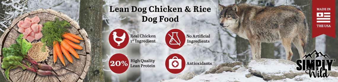 Lean Dog Chicken and Rice Dog Food: Real Chicken 1st Ingredient, No Artificial Ingredients, High Quality Lean Protein, Antioxidants. Made in the USA