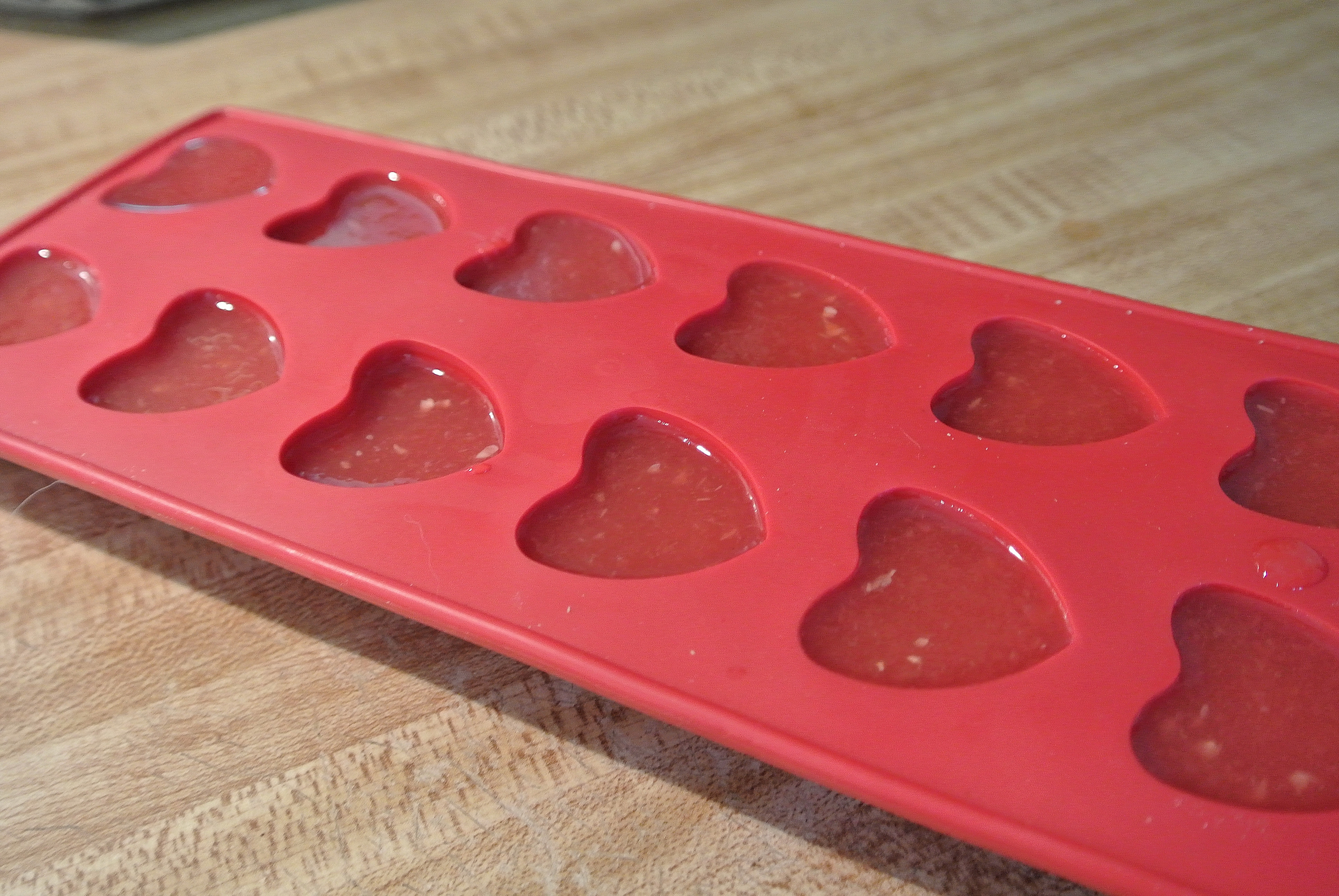 Step Five: Refrigerate for several hours. Remove from molds or cut out shapes with a cookie cutter