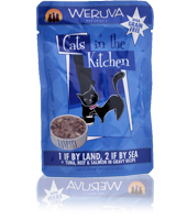 Weruva Cats in the Kitchen Pouch-1 If By Land 2 If By Sea