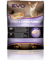 EVO Turkey & Chicken Formula Dry Cat Food