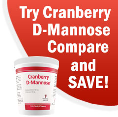 Try Cranberry D-Mannose Urinary Tract Support Soft Chews