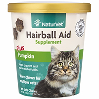NaturVet® Hairball Aid Supplement Plus Pumpkins