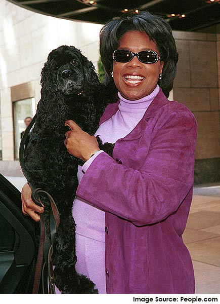 Oprah and her Cocker Spaniel