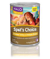 HALO Spot's Choice Shredded Chicken and Chickpea