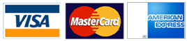 We Accept Visa, MasterCard, American Express