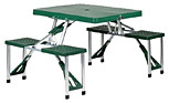 Stansport Folding Picnic Table with 4 Integrated Seats
