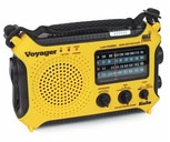 The Voyager - Solar AM/FM/SW/NOAA Weather Band Radio Flashlight
