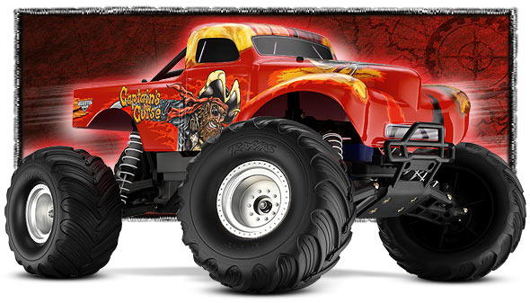 traxxas 1 10 scale captain 39 s curse 2wd monster jam replica monster trucks 3602g. Black Bedroom Furniture Sets. Home Design Ideas