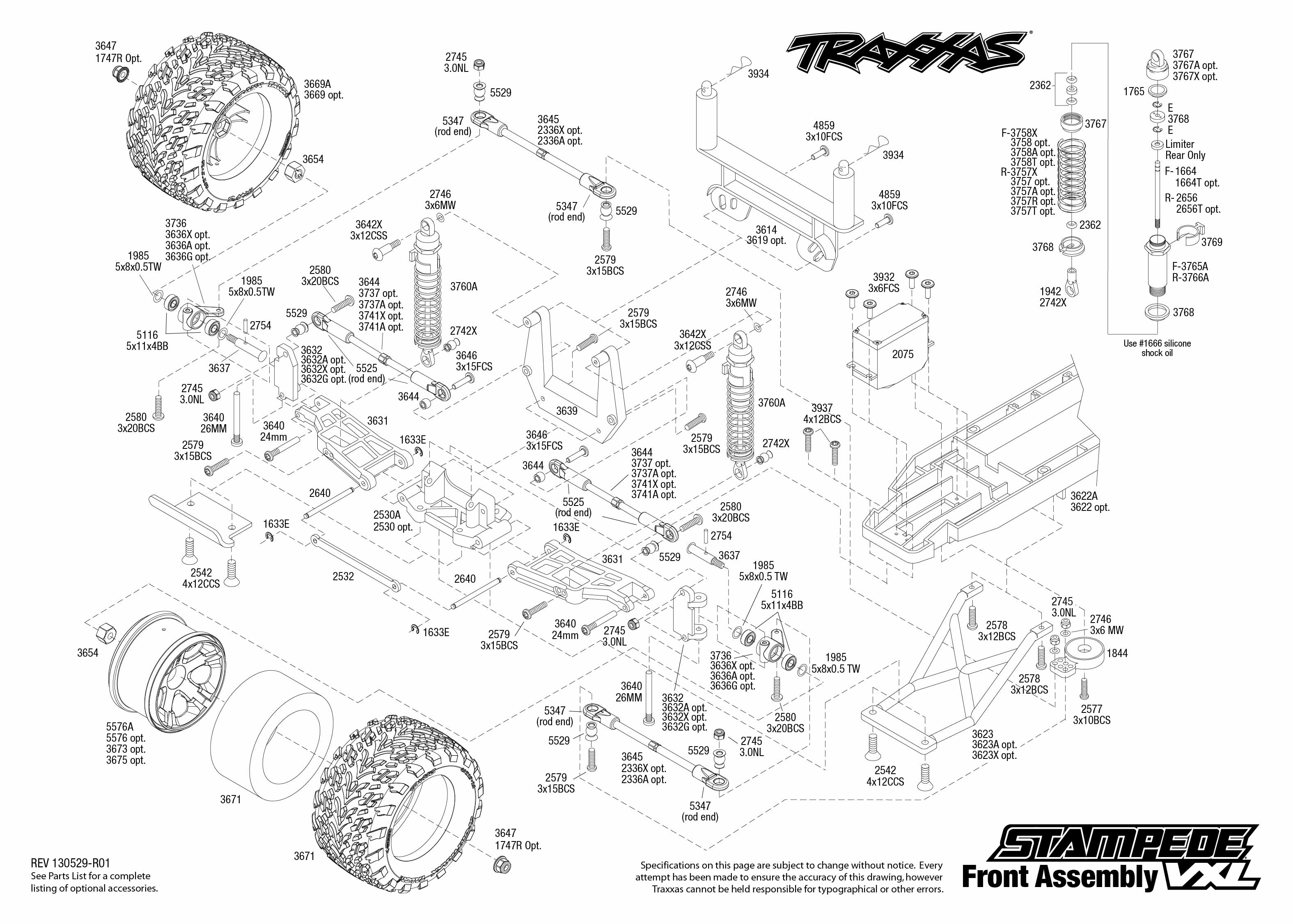 traxxas 1  10 scale stampede vxl 2wd monster truck 3607l traxxas slash vxl 2wd parts manual traxxas slash 2wd vxl parts diagram