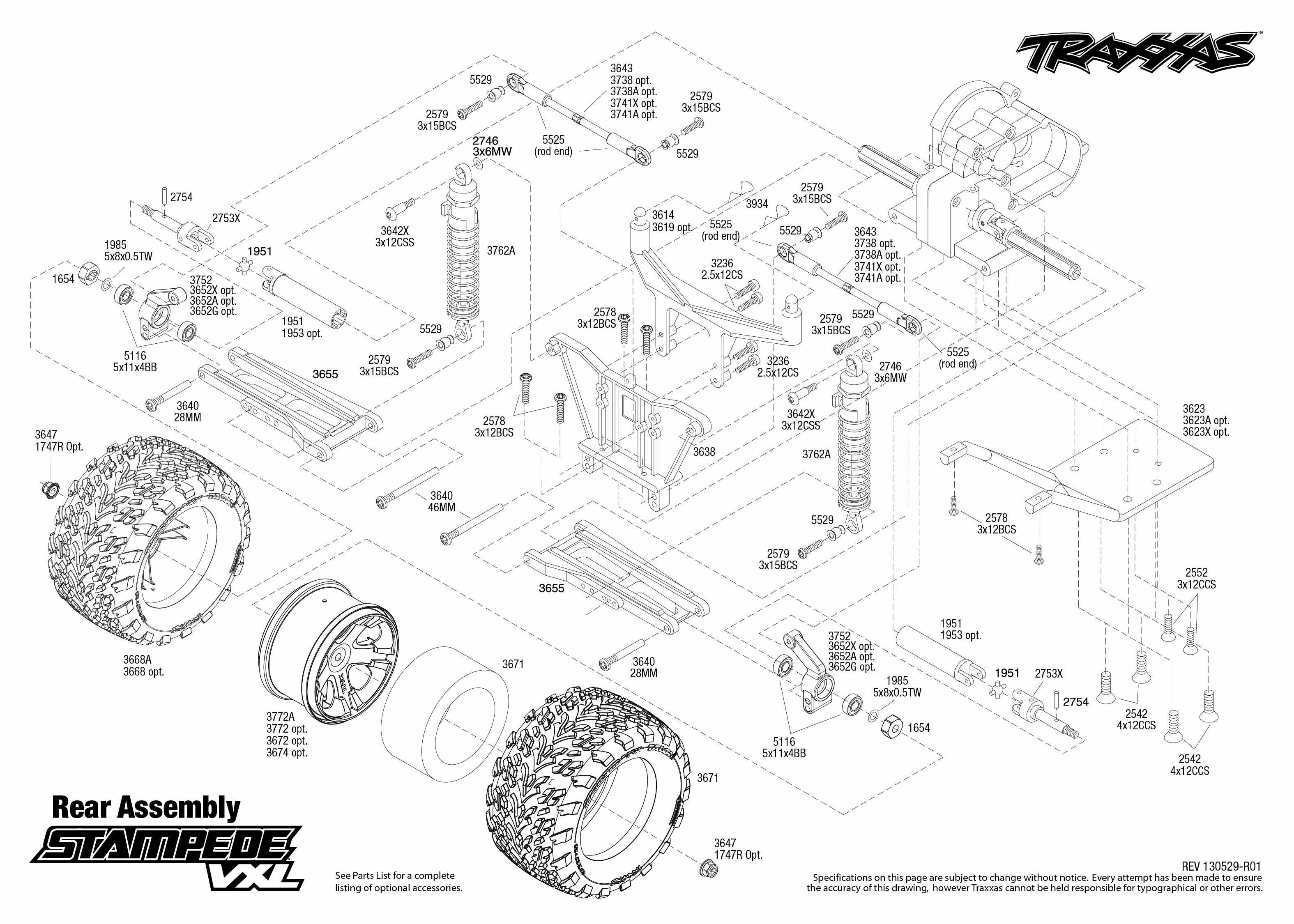 Traxxas Stampede Xl 5 Parts Diagram Everything About Wiring Index Of Tiedostot 4x4 Vxl 1 10 Scale 2wd Monster Truck 3607l Rh Gasscooters Net Electric Paddle Tires