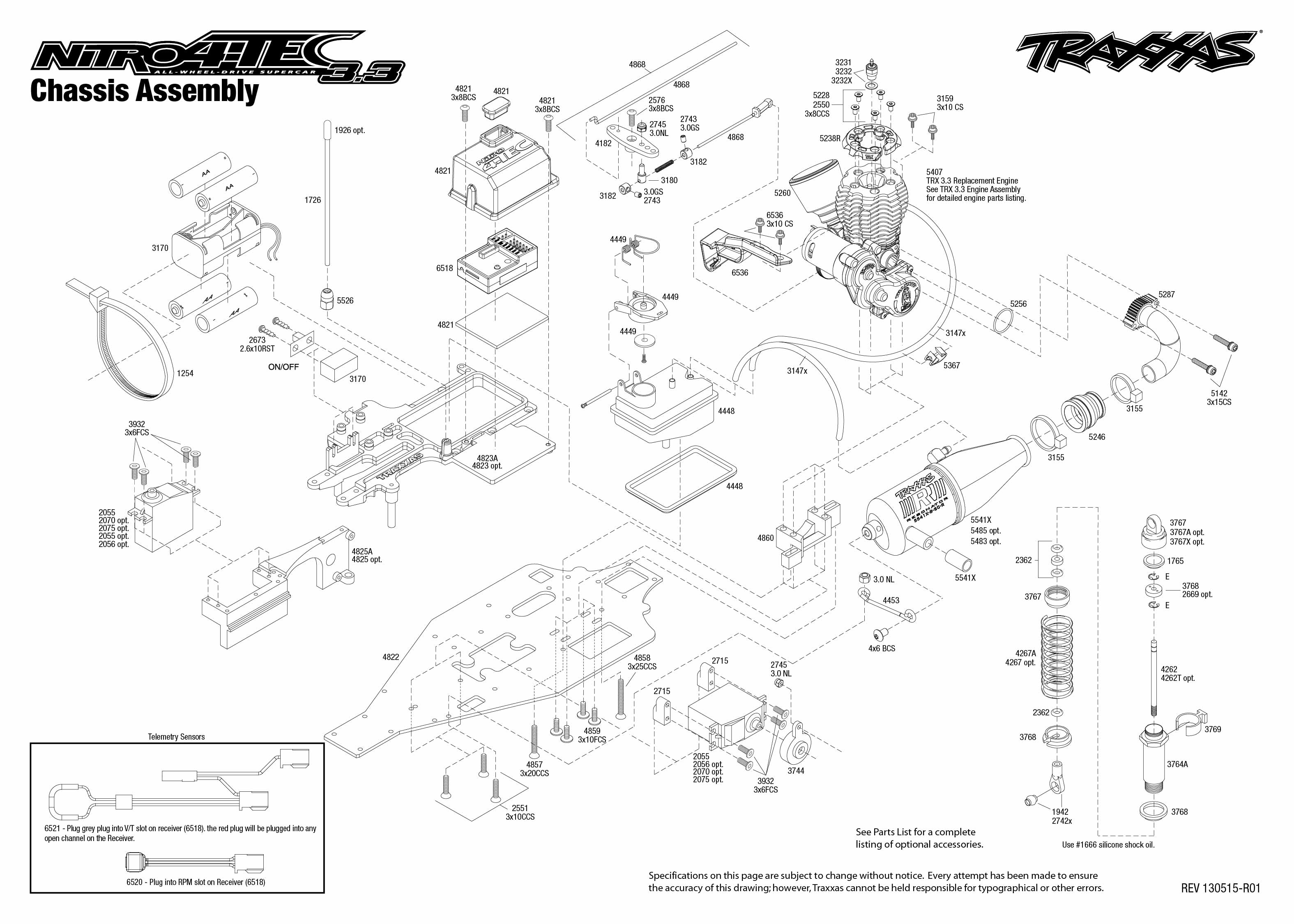 traxxas 3 3 engine diagram 3 4l engine diagram traxxas 1/10 scale 4wd nitro 4-tec 3.3 on road sedan - 4807 #15