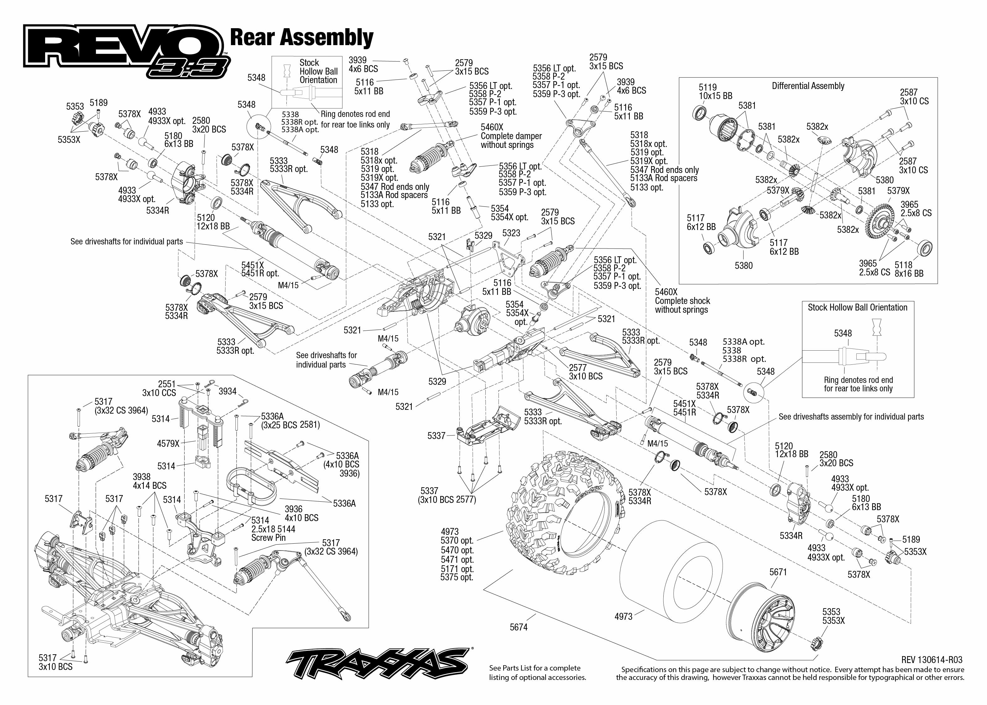 5309_Revo33 TQi exploded views 130614_5309 Rear Assembly traxxas 1 10 scale revo 3 3 4wd monster truck 5309 traxxas 6518 wiring diagram at webbmarketing.co