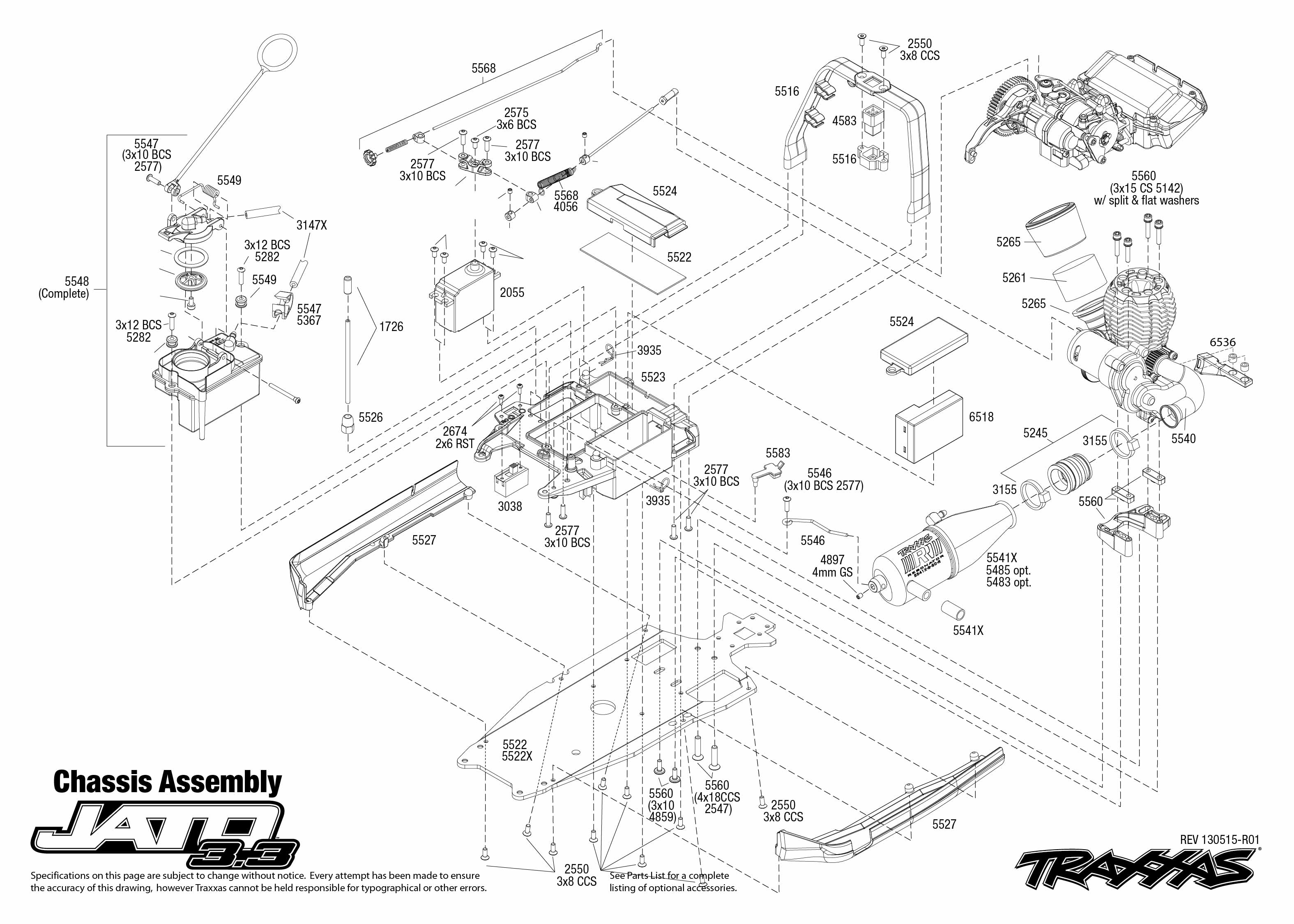 traxxas 1/10 scale 2wd jato 3.3 stadium truck - 5507 mazda b3000 3 litre engine diagram