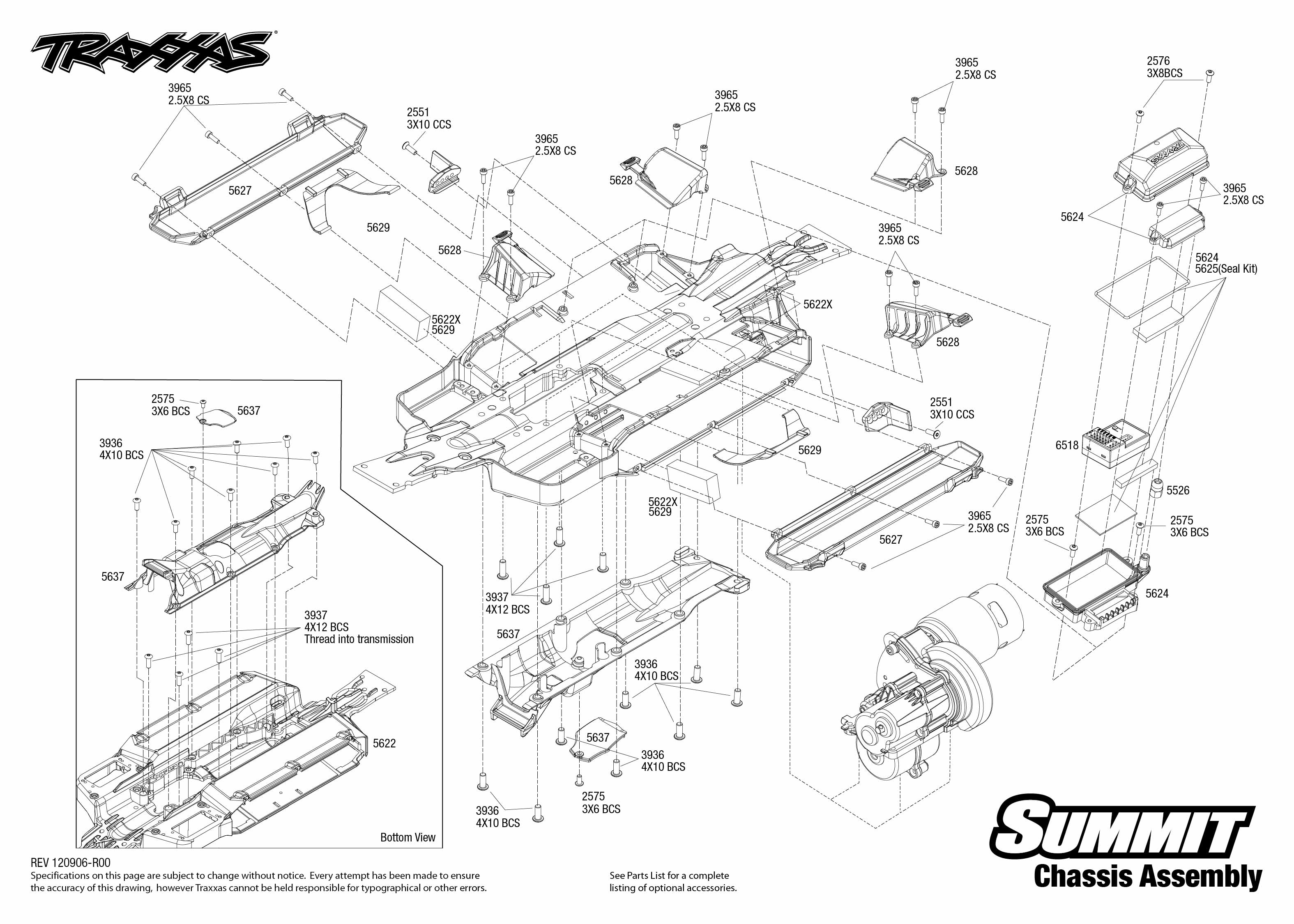 5607 120907 Chassis traxxas 1 10 scale summit 4wd extreme terrain monster truck 5607l traxxas evx 2 wiring diagram at bayanpartner.co
