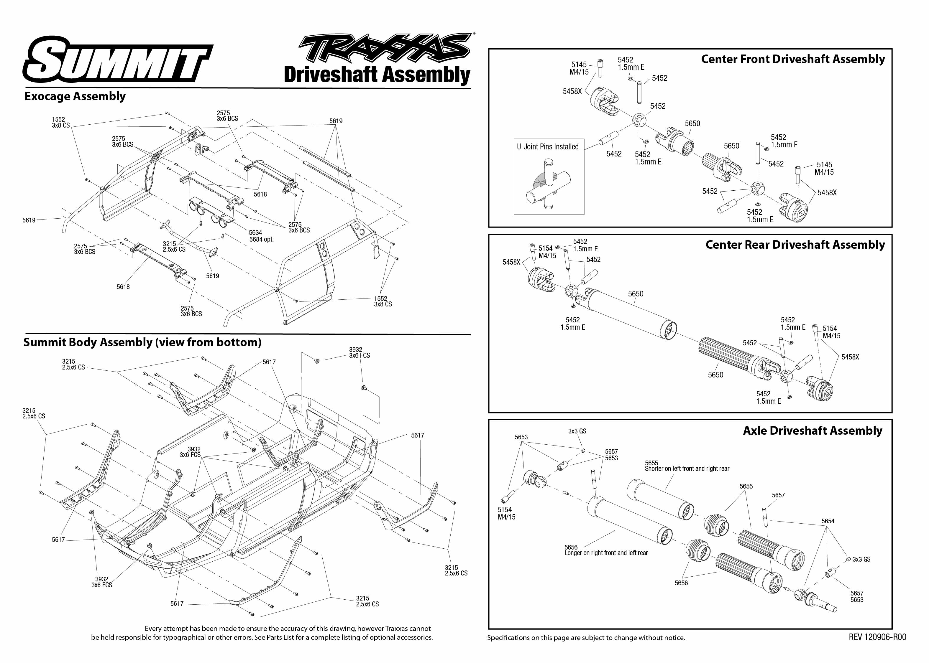 5607 120907 Driveshafts traxxas 1 10 scale summit 4wd extreme terrain monster truck 5607l summit wiring harness instructions at gsmx.co