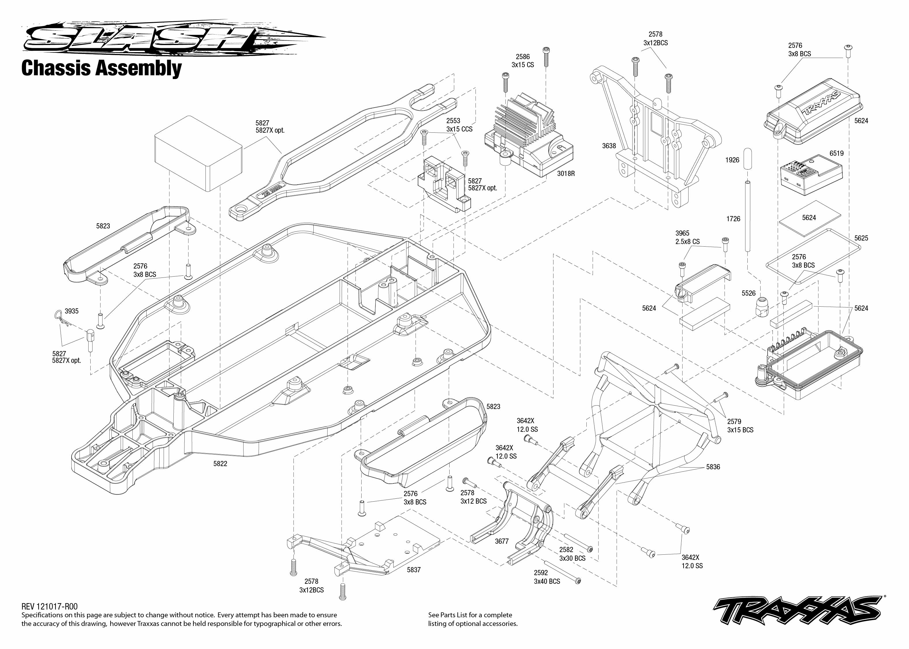 traxxas 1 10 scale slash pro 2wd short course race truck 58034 Traxxas Stampede Exploded Diagram 58034 front assembly