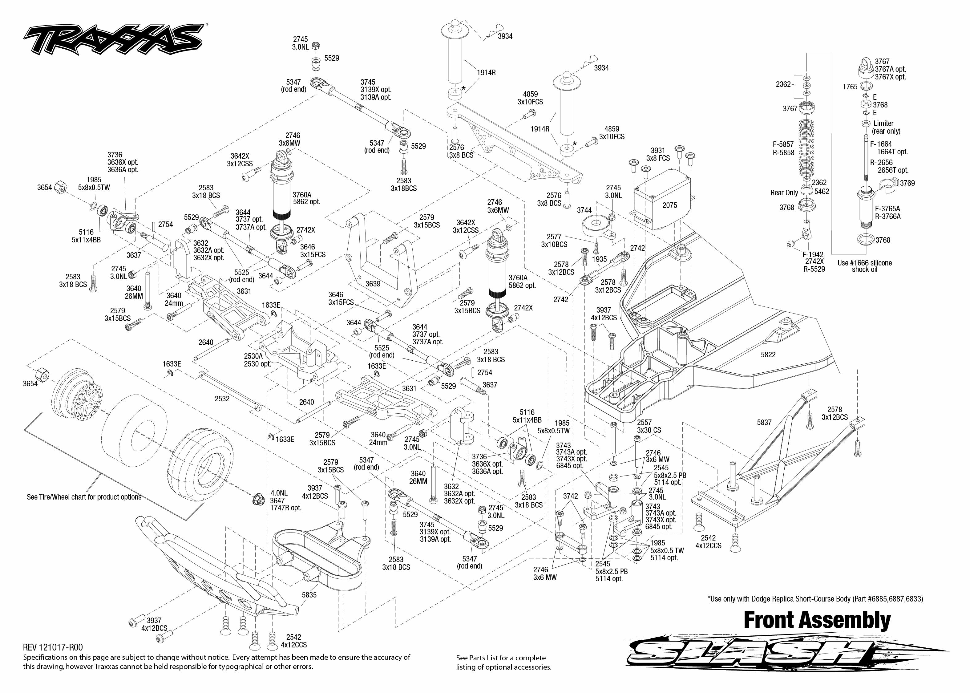 58034_exploded views_TQi_121017_58034_Front_Assembly1 traxxas 1 10 scale slash pro 2wd short course race truck 58034 Exploding Diagram Add-On at gsmx.co