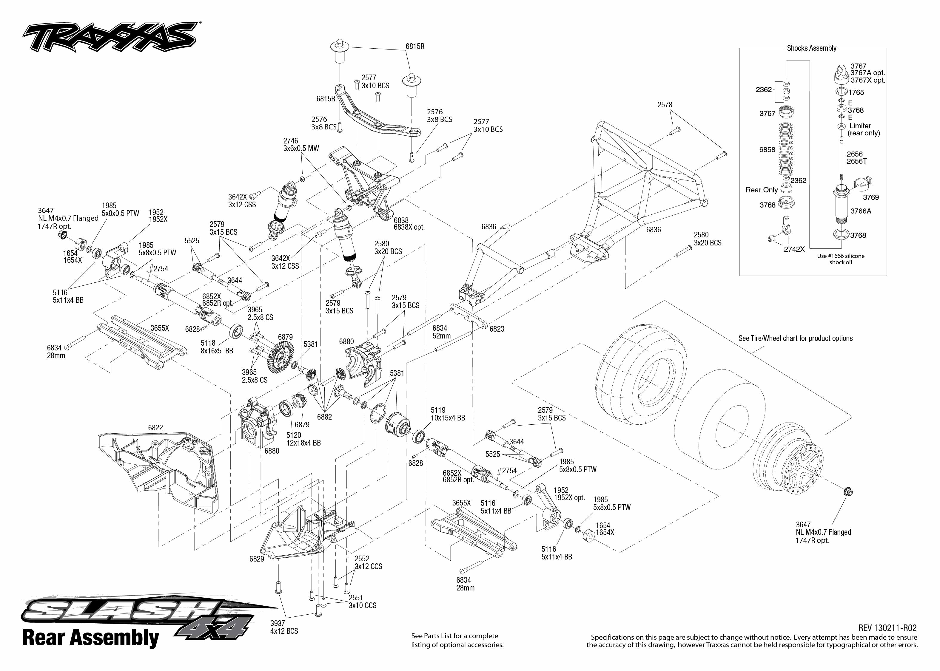 6808L_TQi_explodedviews_130211_6808 Rear Assembly_0 traxxas 1 10 scale slash 4x4 brushless short course truck 6808l traxxas 6518 wiring diagram at reclaimingppi.co