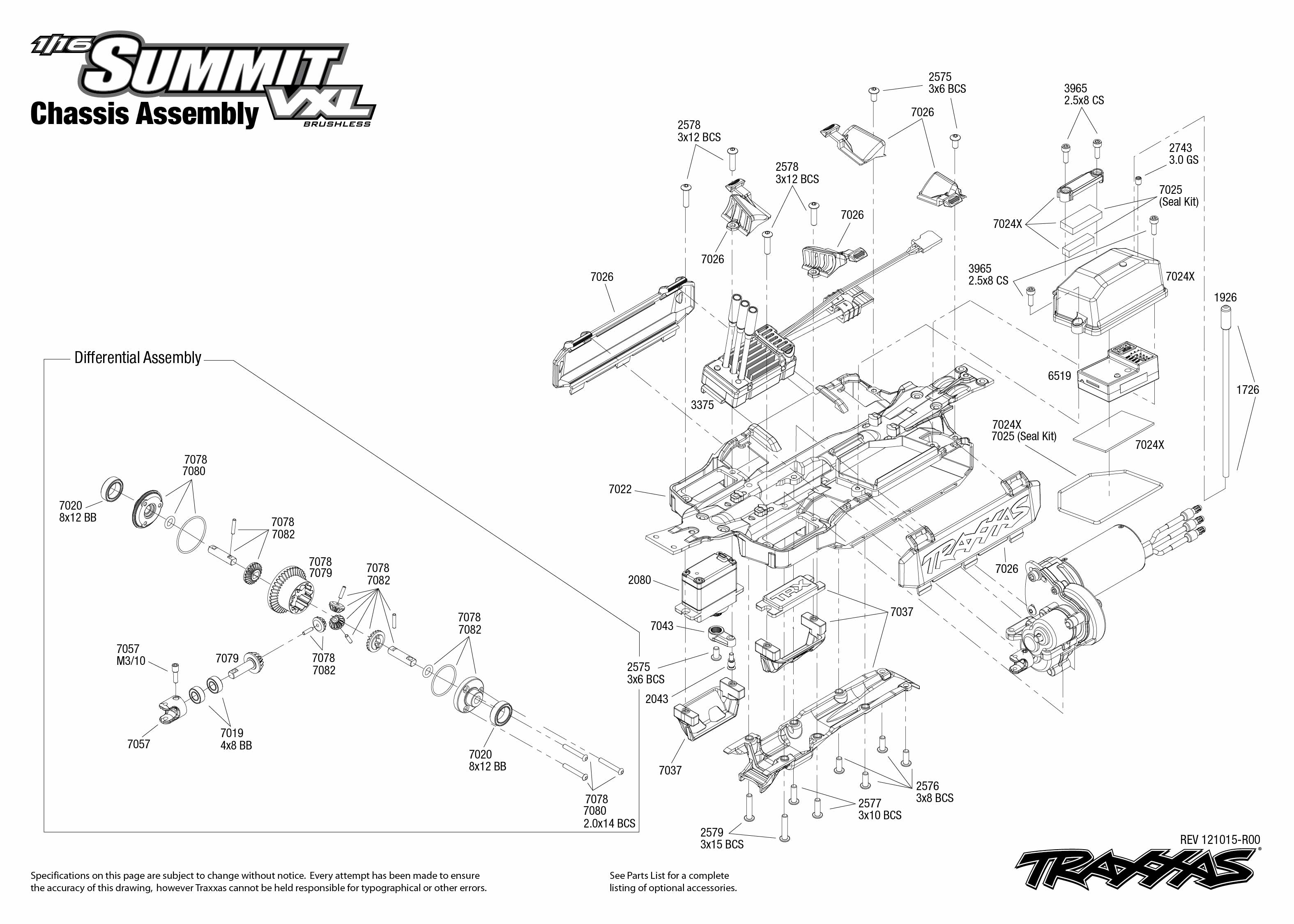 72074_TQi_exploded_views_121015_72074_Chassis_Assembly1 traxxas 1 16 scale summit vxl 4wd extreme terrain monster truck traxxas summit wiring diagram at soozxer.org