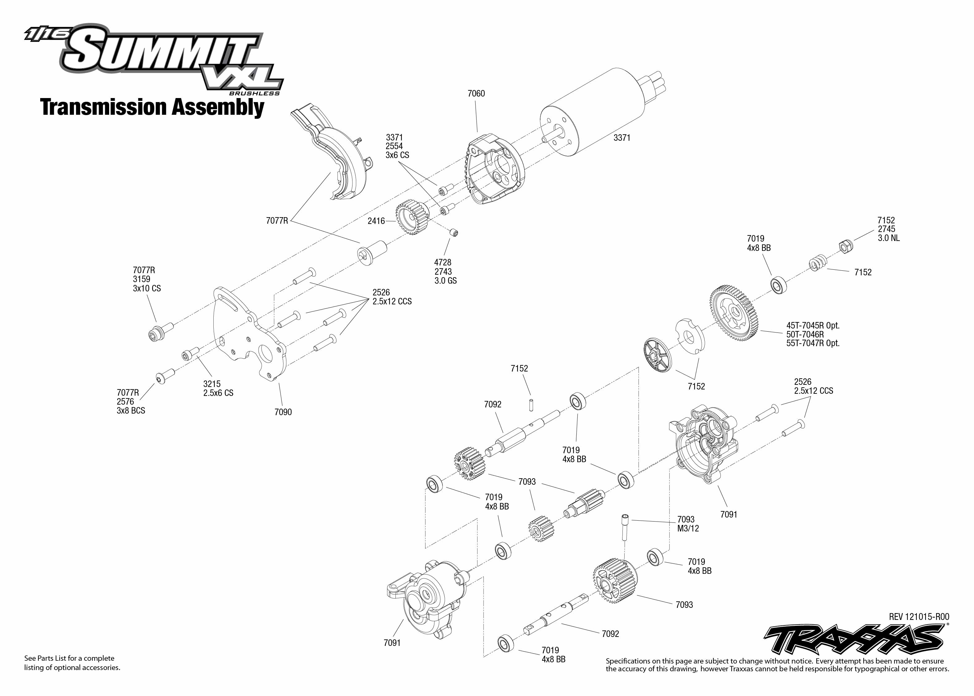 72074_TQi_exploded_views_121015_72074_Transmission_Assembly1 traxxas 1 16 scale summit vxl 4wd extreme terrain monster truck traxxas summit wiring diagram at soozxer.org