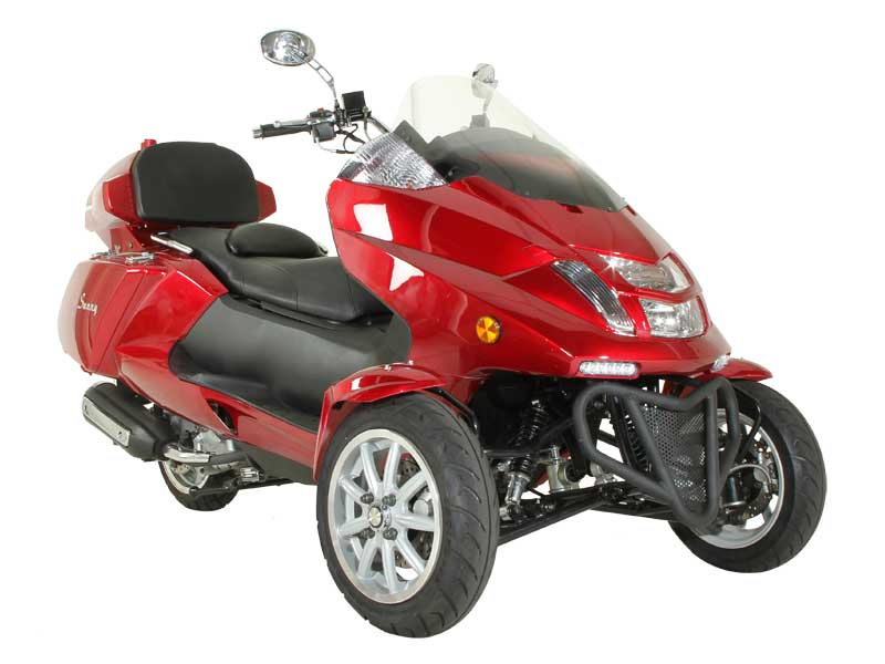 trike gas motor scooters 300cc 3 wheels moped mc d300tkb. Black Bedroom Furniture Sets. Home Design Ideas