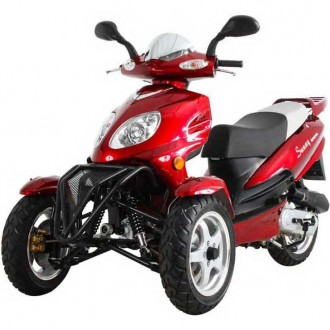 moped 50cc three wheel trike gas motor scooter mc d50tka. Black Bedroom Furniture Sets. Home Design Ideas