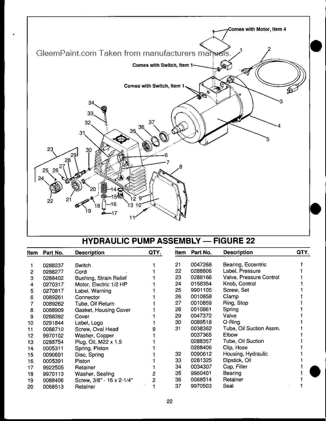 1250 Hp Manual W Parts Breakdown Wagner And Spraytech
