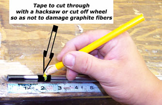 How to mark and tip trim a graphitel shaft.