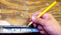 How to mark and tip trim a steel shaft.