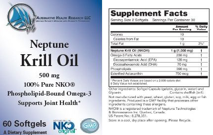 krill oil label