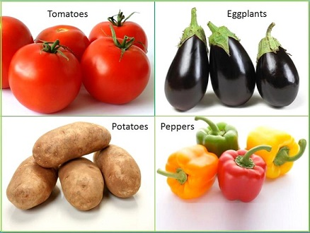 nightshade vegetables and fruits